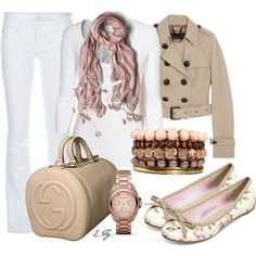 super girly jeans outfit with the jewelry, floral shoes and pink scarf!