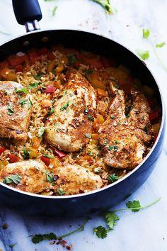 One Pot Spicy Cajun Chicken & Rice | Creme de la Crumb