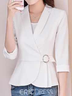 Fashion Outerwear for Women Online Page 3 Blouse Styles, Blouse Designs, Classy Outfits, Casual Outfits, Blouses For Women, Jackets For Women, Dress Outfits, Fashion Dresses, Blazer Fashion