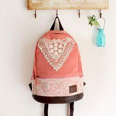 Awesome backpack! I really like lace :)