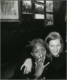 Kate moss and Naomi Campbell