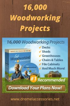 Ever wanted to create woodworking projects easily and quickly? I just came across a site with over 16,000 downloadable woodworking plans. Woodworking Projects Plans, Teds Woodworking, Dremel Accessories, Dremel Tool, Furniture Plans, Carpentry, Filing Cabinet, Deck, Lgbt Community