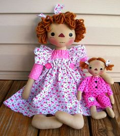 Primitive Raggedy Mama and Me Doll