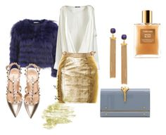 """""""I got the BLUES"""" by nina-enwia on Polyvore featuring Alice + Olivia, Balmain, Yves Saint Laurent, Valentino, Ottoman Hands, Maison Mayle, Tom Ford, gold, Studs and valentino"""