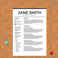 Resume Template & FREE Cover Letter @creativework247