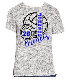 a635f415 Personalized Volleyball Shirt School Spirit Shirt Volleyball Mom Sports  Shirt Senior Shirt Game Day Shirt, High School, Sports Mom