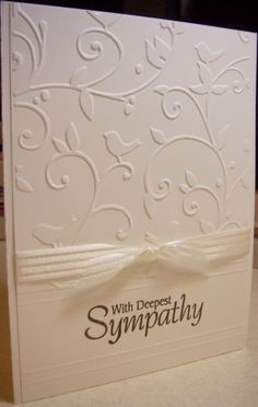 Sympathy Card - simple and classy