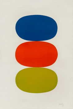Ellsworth Kelly, Blue and Orange and Green, Rago Auctions: Post War & Contemporary Art Diy Wall Art, Framed Wall Art, Green Web, Hard Edge Painting, Ellsworth Kelly, Arches Paper, Art For Art Sake, Shape Patterns, Abstract Print