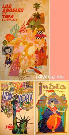 Thompson Family Life-Designer Crush:  David Klein-Vintage 60s illustration