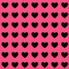 Hot Pink Backgrounds   Hot Pink Black Heart background - hot pink background with a small ...