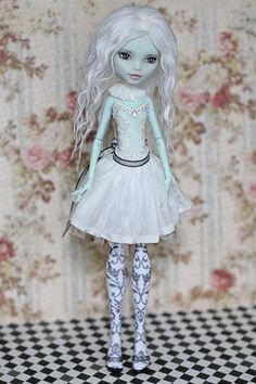 Monster High Doll OOAK Frankie Stein Custom Repaint Wig Full Outfit | eBay