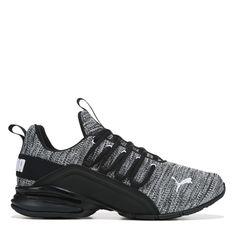 Puma Men's Axelion X-Wide Running Shoes (Black/White) - shose - Mens Puma Shoes, Black Nike Shoes, Puma Mens, Jordan Shoes Girls, Girls Shoes, Fresh Shoes, Hype Shoes, Baskets, Moda Masculina