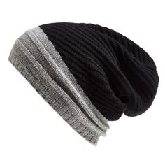 Echo Cashmere Colorblock Beanie ($98) ❤ liked on Polyvore featuring accessories, hats, black, beanie cap hat, slouch hat, block hats, cashmere hats and cashmere slouch beanie