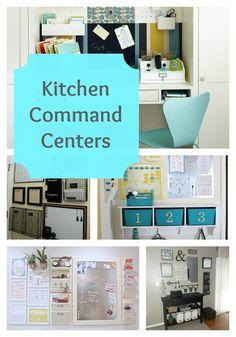 DIY:: Kitchen Command Center Round Up (with Tutorials for each)
