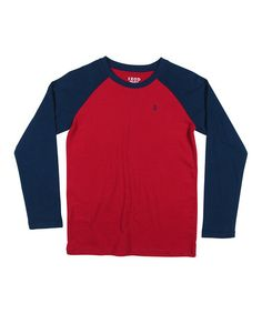 Another great find on #zulily! Red & Blue Raglan Tee - Boys by IZOD #zulilyfinds