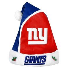 44dfaeb9318c6 New York Giants 2015 NFL Football Team Logo Holiday Plush Basic Santa Hat  Nfl Football Teams