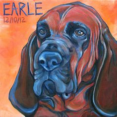 8 x 8 Custom Pet Portrait Painting in Acrylics by bethanysalisbury, $90.00