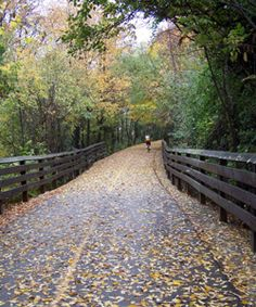The Monon Trail - travels approximately 16 miles through parts of Indianapolis, Carmel & Westfield, Indiana on the old Monon railroad track and is used by more than 4,000 people per day.