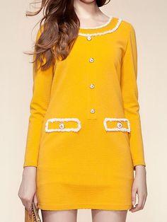 Shift Dress with Delicate Button Detail - Choies.com
