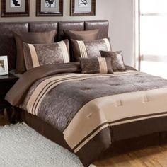 Highland 8 Piece Comforter Set - Brown $200.00