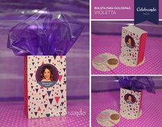 Bolsita box imprimible Violetta - Gratis! -Celebrando Fiestas