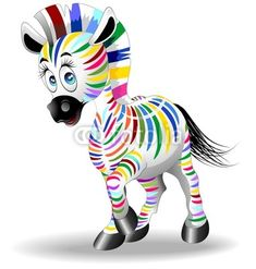 Four Color Process Zebra-Vector © bluedarkat