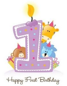 telegram födelsedag humor One Year Old Birthday Wishes | First Birthday Candle With Animals  telegram födelsedag humor