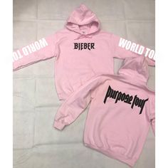 Inspired by JB's Purpose World Tour we have this light pink colour hoodie. Size Guidelines: