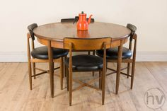 Vintage Retro Mid Century G Plan Teak Fresco Dining Table & 4 Chairs