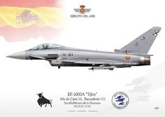 """Ala de caza 11. """"Vista, suerte y al toro"""" Military Jets, Military Aircraft, Air Fighter, Fighter Jets, Commonwealth, Spanish Air Force, Airplane Illustration, F 16 Falcon, War Thunder"""