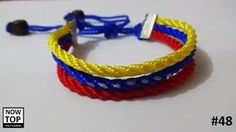 pulsera tricolor bandera venezuela / nowtop Military Fashion, Paracord, Jewerly, Collars, Diy, Bracelets, Pattern, Crafts, Accessories