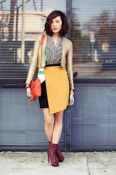 Sachin + Babi blouse & skirt, Manning Cartell jacket,