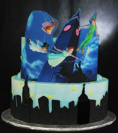 Peter Pan cake [flying over London] by Butterfly Bakeshop http://www.butterflybakeshop.com/
