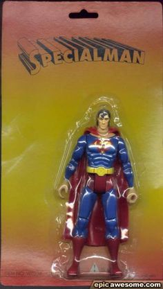 """Knock-Off Superman Toy Called """"Specialman"""" 
