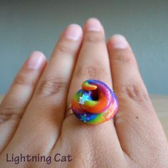 Unicorn Poop Ring by LightningCat on Etsy Majestic Unicorn, Real Unicorn, Rainbow Unicorn, Unicorn Party, How To Make Clay, Unicorns And Mermaids, Clay Charms, Girl Birthday, Crafts For Kids