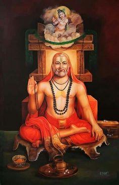 Sri Raghavendra S. Shiva Hindu, Shiva Shakti, Hindu Deities, Hindu Art, Hanuman Pics, Hanuman Images, Happy Ganesh Chaturthi Images, Indian Saints, Lord Hanuman Wallpapers