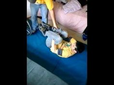 easy assisted transfer from floor to chair quadriplegic c5 - YouTube