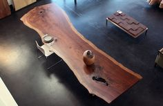 Walnut Slab Table by Urban Hardwoods...i love large natural wood tables so much!!!♥♥♥