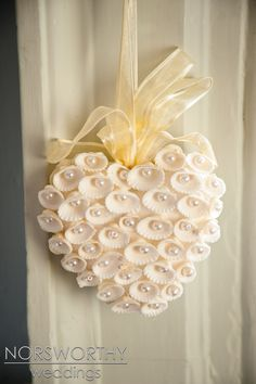 Nested Pearl & Seashell Heart