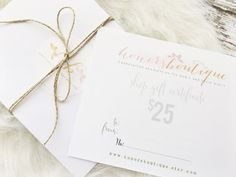 Gift Certificate to Honor's Boutique  by HonorsBoutique on Etsy