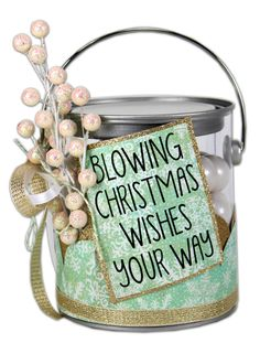 Crafts Direct Project Ideas: Christmas Wishes Paint Can