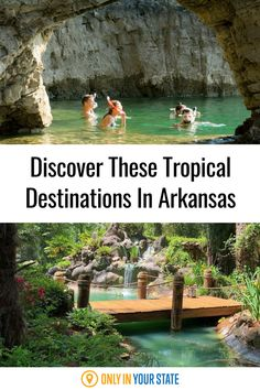 Travel to a tropical Caribbean paradise without leaving Arkansas this summer! Just visit these beautiful, unique destinations for swimming, boating, and relaxing. Island Water Park, Sand Island, 7 Places, Places To Visit, Eureka Springs, Crystal Clear Water, Tropical Paradise, Island Life, Summer Travel