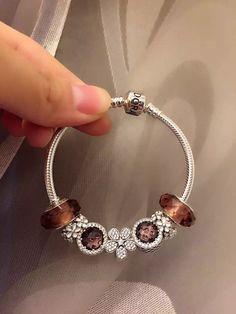 50% OFF!!! $199 Pandora Charm Bracelet Pink. Hot Sale!!! SKU: CB01834 - PANDORA Bracelet Ideas