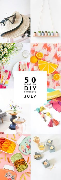 50 must do DIY Projects July | Fall For DIY