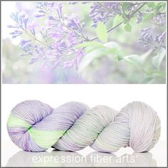 Expression Fiber Arts, Inc. - LILAC GARDEN SUPERWASH DEWY DK, $23.00 (http://www.expressionfiberarts.com/products/lilac-garden-superwash-dewy-dk.html)