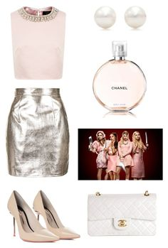 """Chanel Oberlin, Scream Queens"" by jepple15 ❤ liked on Polyvore featuring Sophia Webster, Oh My Love, Tiffany & Co., Ted Baker and Chanel"