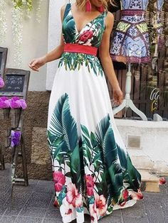 Fashion Floral Print Maxi Dress – chiclinen maxi dresses long dresses elegant dresses casual dresses for wedding guests summer dresses 2020 maxi dresses summer long dresses to wear to a wedding outfit Trendy Dresses, Sexy Dresses, Summer Maxi Dresses, Formal Outfits, Beach Dresses, Maxi Dress Outfits, Long Dresses, Kimono Dress, Flower Dresses