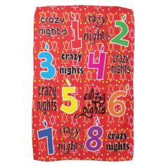 "Kitchen Towel ""Hanukkah/8 Crazy Nights"" Dish Towel - diy cyo customize create your own personalize"