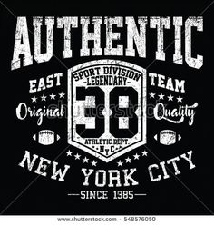 New York City authentic sport, east team typography, t-shirt graphics, vectors