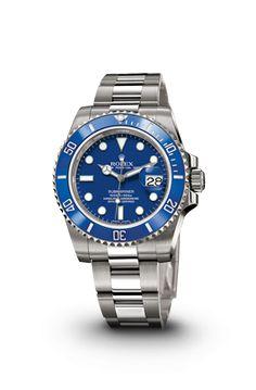 DREAM WATCH!   ROLEX SUBMARINER DATE WATCH IN WHITE GOLD - ROLEX Timeless Luxury Watches